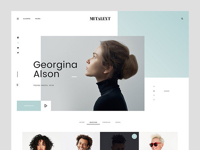 MI Talent: A website template for agencies