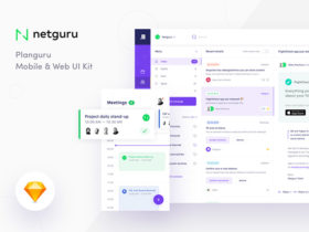 Planguru: Free UI kit for event and planning apps