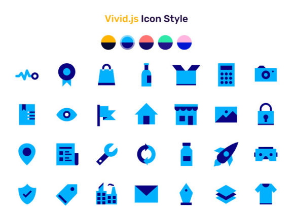 Vivid.js - A JS library serving a set of 90+ SVG icons
