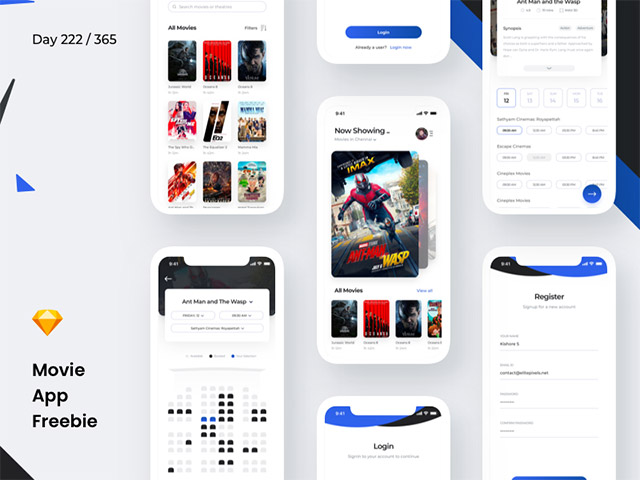 Movie booking app concept