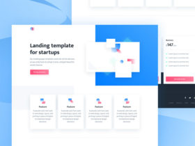 Agnes: Landing page template for startups