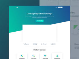 Evelyn: HTML landing page for startups
