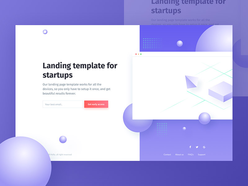 Holly: Pre-launch landing page