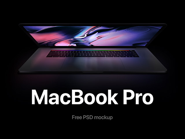 Macbook Pro mockup with reflections