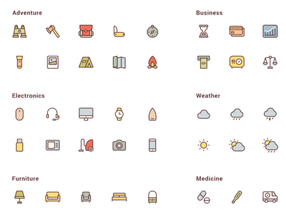 150 free vector icons