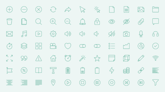 Essentials icons preview