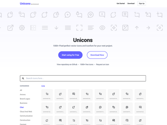 Unicons: A free seto of 1000+ icons