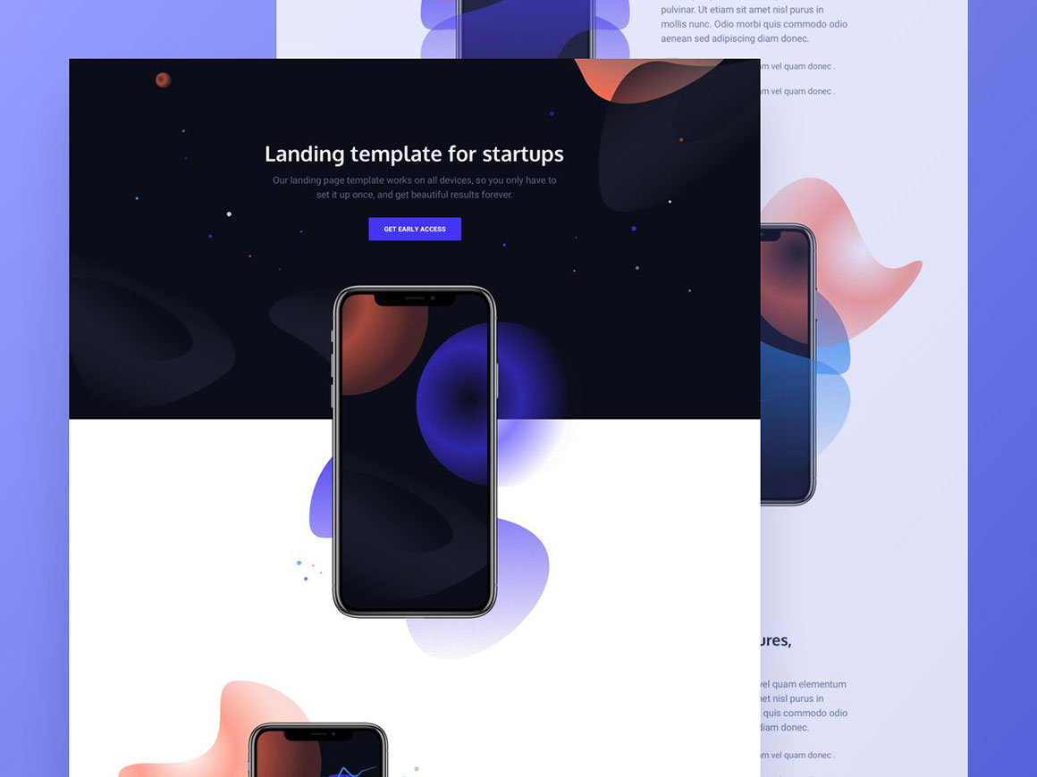 Venus: Free HTML app showcase template