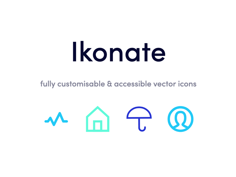 Ikonate: Free set of 230+ SVG icons