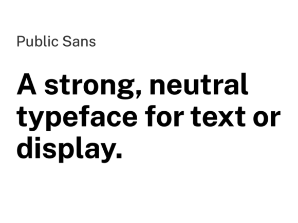 Public Sans: A neutral open-source typeface