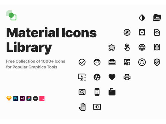 Material Icons Library: 1000+ free vector icons - Freebiesbug