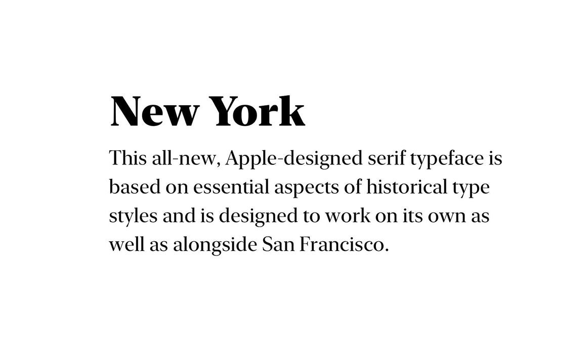 New York font preview