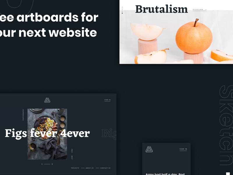 Brutalism: A free web kit for Sketch and Figma