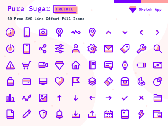 Pure Sugar: Free set of 60 SVG icons