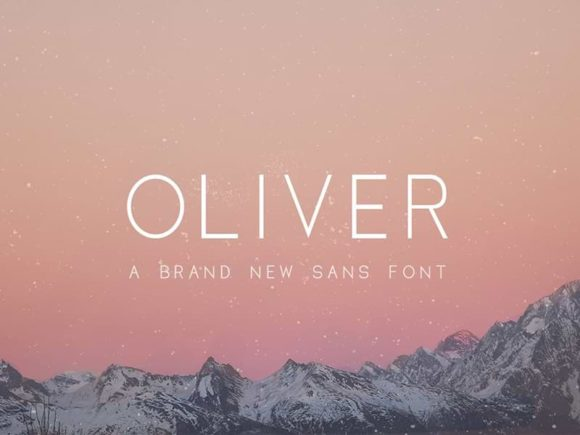 free fonts, Oliver: Free sans serif font in 3 weights