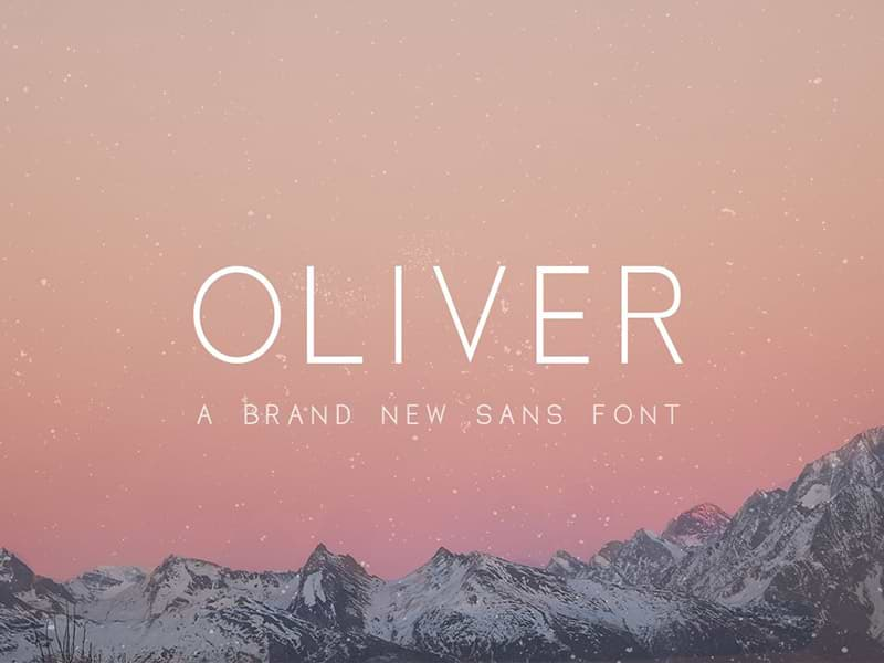 Oliver: Free sans serif font in 3 weights
