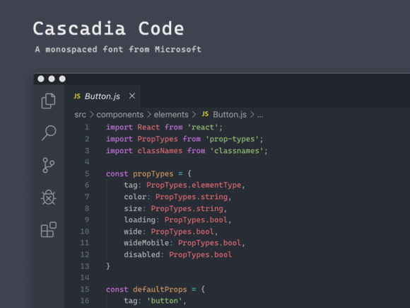 Cascadia Code: A monospaced font from Microsoft