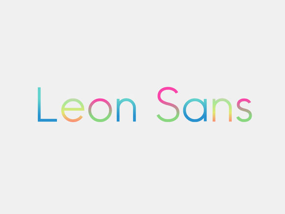 Leon Sans: A geometric typeface based on JavaScript