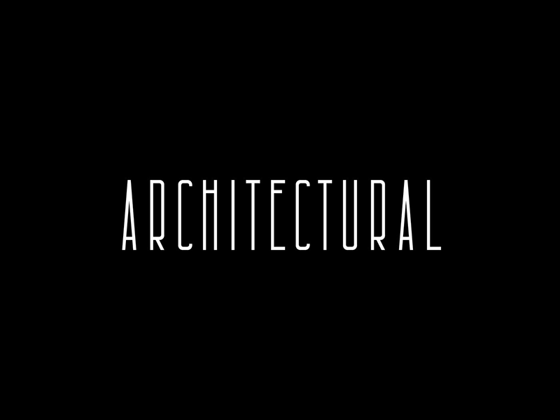 Architectural: Free condensed font