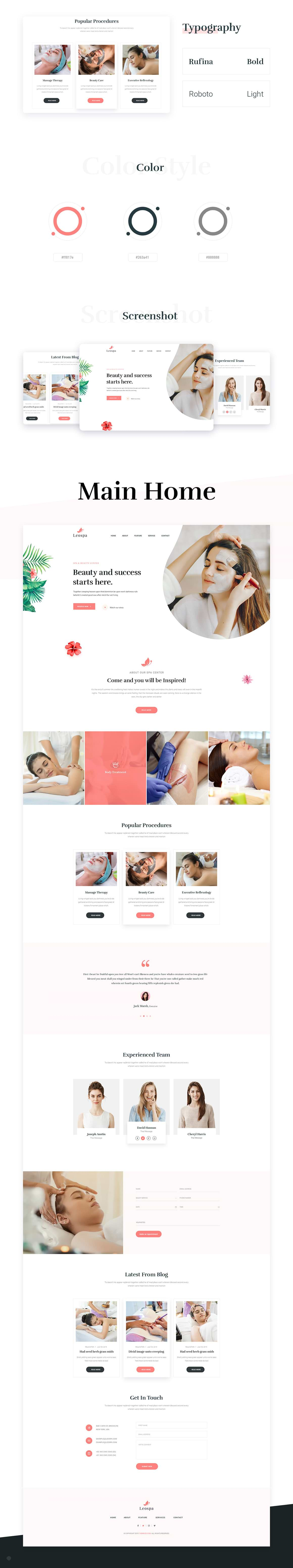 Leospa landing page preview