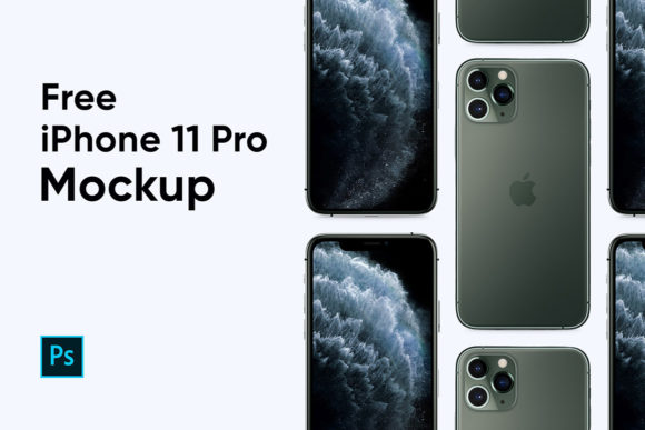 Another free PSD iPhone 11 mockup