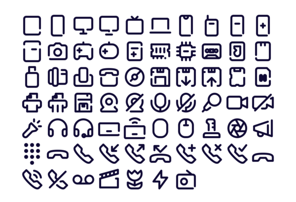 67 Free device icons preview