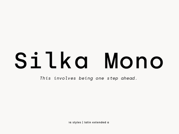 Silka Mono: Free regular monospaced font