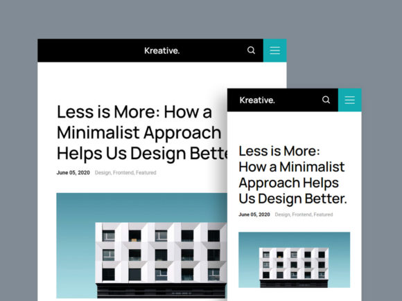 Kreative template blog preview