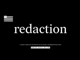 Featured image of Redaction font