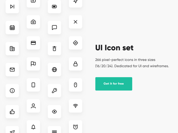 266 icons for user interfaces