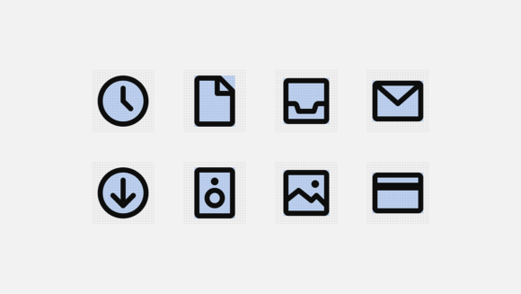 Mono icons keylines
