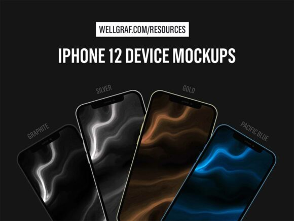 4 iPhone 12 mockups (PSD, Sketch and Figma)