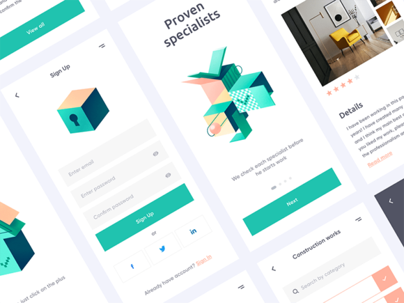 Free Mobile UI Kit by Outcrowd