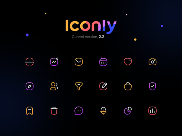 Iconly 2: 600+ free essential icons