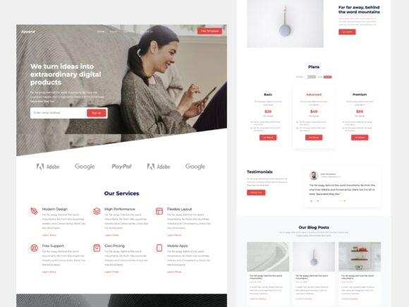 Append: Free Bootstrap HTML template