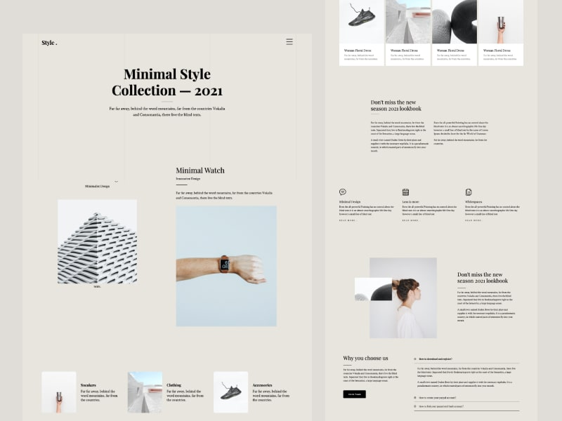 Style: Bootstrap HTML template